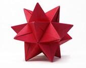 "Modular Origami Star Ball - Red - 4.5"""