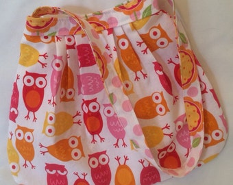 READY TO SHIP Her First Mod Purse in Ann Kelle Pink Owls (see shop annc. for free shipping offer)