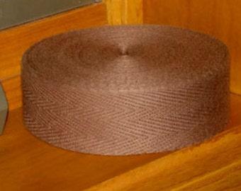 MEDIUM BROWN BINDING tape 10 yards for use in rug hooking