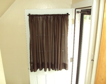 back door curtain extra wide 118 sheer drapery by countrycustoms. Black Bedroom Furniture Sets. Home Design Ideas