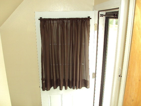 Wrap Around Curtain Rod Extra Long Sheer Curtains