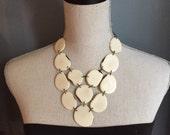 Ivory bib statement necklace