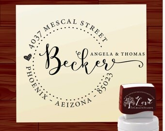 Custom address stamp SELF - INKING save the date personalized stamp  wedding  gift - style 1162D