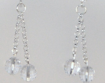 Swarovski Crystal and Cubic Zirconia Jewelry - Bridal Earrings - Bride, Bridesmaids, Maid of Honor - Clear AB Crystals
