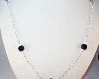 Celestial Crystal Coins Necklace - Black