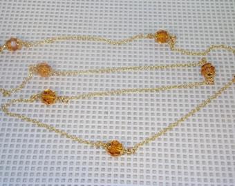 Swarovski Crystal Jewelry - Topaz Crystal  - Prom,, Birthstone, Anniversary - Choose your Color