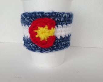 Colorado Flag Barista Cozy - Colorado Flag Cup Cozy - Colorado flag