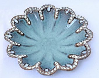 Candy Dish in Chowder in Turquoise Teal- Ceramic Stoneware Pottery