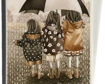 Rainy Day Greeting Card by Tracy Lizotte