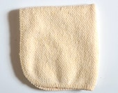 Hemp and Organic Cotton French Terry Washcloth 9 x 9 inches with off white trim by Aquarian Bath - Go green - ecofriendly