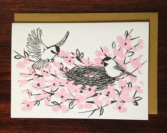 Birds in the Blooms Card (box of 10)