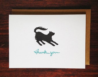 Black Cat Thank You Card (Pack of 10)