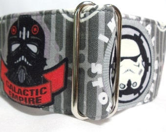 NEW Glow in the Dark Darth Vader Black, Red, White and Gray Greyhound, Whippet, Galgo, Saluki, Dog, Pit Bull  Martingale Collar