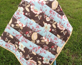 Sale Ready To Ship Handmade  Baby or toddler Strip Quilt