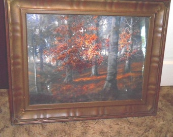 Pair of William Eyden Jr.Watercolor Paintings,  Autumn Landscapes - ONE signed