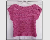 CROCHET SWEATER PATTERN, Pink Summer Shell Top, 5 yts to Adult 4XL, Quick and Easy Pattern, #803, Women's clothing, Children, girls, teens