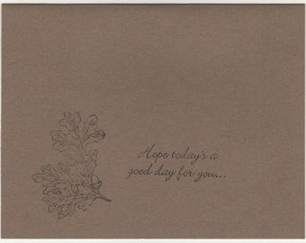 good day blank card
