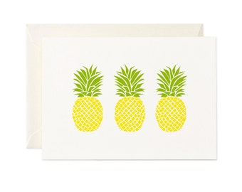 Three Pineapples   Greeting Card   Gift Card   Tropical   Toodles Noodles