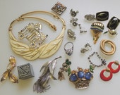 Lot of Jewelry Pieces Whole and Needing Repair Pieces and parts and Destash De Stash whole jewelry to re-purpose or Resell
