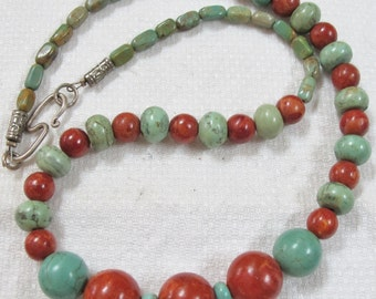 Perfect Turquoise/Coral Necklace