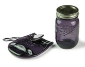 Melted Mason Jar, Purple Glass Ball Jar Spoon Rest, Unique Home Decor, Mason Jar Gifts, Vintage Style Ball Jar, Housewarming Gift