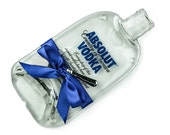 Absolut Vodka Melted Bottle Cheese Plate / Flattened Bottle Cheese Board / Eco Friendly Hostess Gift / Housewarming Present / Wedding Gift