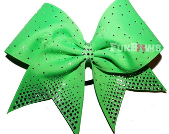 Stunning Allstar Cheer bow loaded with rhinestones by FunBows !!