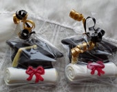 Chocolate Graduation Mortar Board and Diploma favors