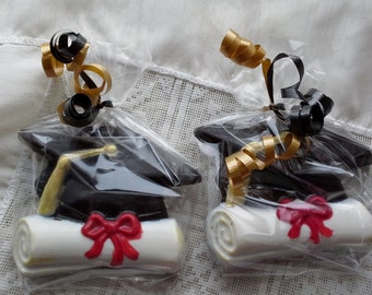 Chocolate Graduation Mortar Board and Diploma favors