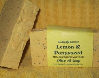 Lemon Poppy Seed all natural Goat milk Olive oil soap