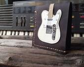 New item!! Hand Stitch Men Wallet Fender Telecaster white Color