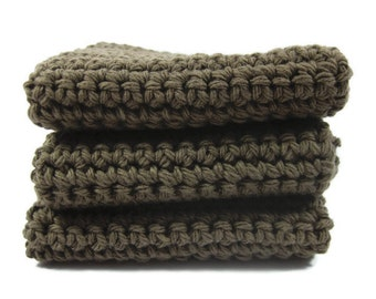 Mudslide Crochet Dish Cloth Wash Cloth Set of Three