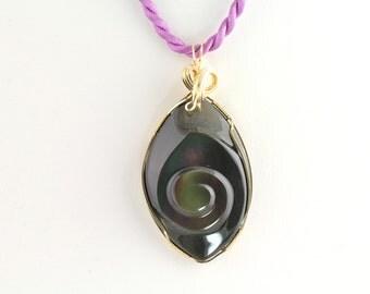 Rainbow Obsidian Pendant. Listing 233712991