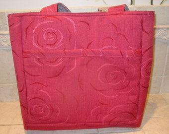 Large Reversible Upholstery Tote