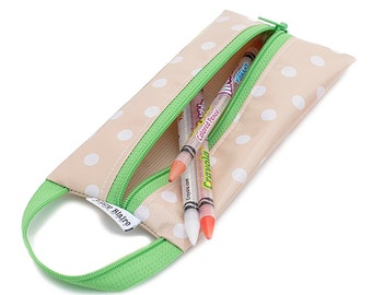 Oilcloth Pencil Case Makeup Brush Bag
