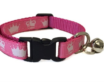 Princess Crown Cat Collar with Breakaway Safety Buckle Princess Cat Collar