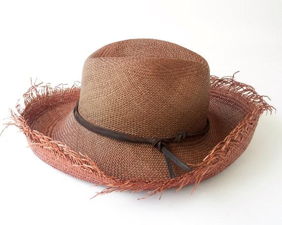Fedora Hat- Panama Straw Hat- Straw Hat- Men's Hat- Women's Hat- Western Hat- Beach Hat- Sun Hat- Summer Hat- Wide Brimmed Straw Hat