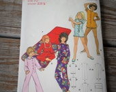 Butterick Pattern 6441 Children and Girls Pajama Jumpsuit and Sleeping Bag  size 10 uncut
