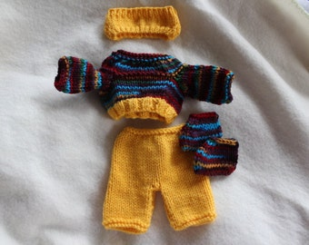 10 inch handknit doll outfit