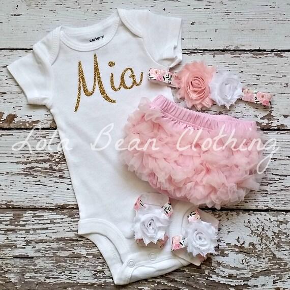 Baby Girl Take Home Outfit Newborn Baby Girl Custom Bodysuit