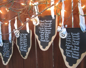 Set of 8 Party Banners, Burlap and Re-Useable Chalkboard Cloth For Every Occasion