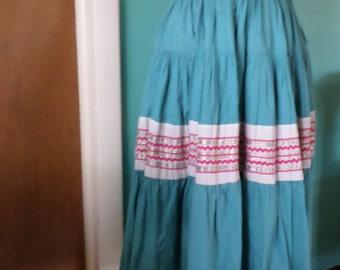 Desert Party - 1950's Cotton Fiesta Square Dance Skirt