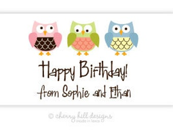 """Owl Gift Tag - set of 24 4"""" x 2"""""""