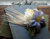 Morning Glory & Buttercup - ATS or Tribal Fusion Belly Dance Hair Art Fascinator Clip