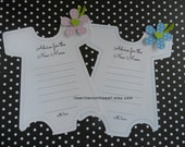 Kit Baby Shower Onesie Game--Blue or Pink  Advice For the New Mom  Party Game