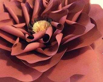 "Paper Flower: English Garden Rose 20"""