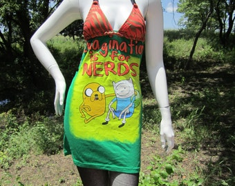 "Adventure Time ""Imagination is for Nerds"" tshirt bikini dress"