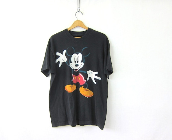 vintage mickey mouse t shirt oversized mickey tee shirt. Black Bedroom Furniture Sets. Home Design Ideas
