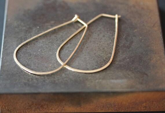 Large Horseshoe Hoop Earrings