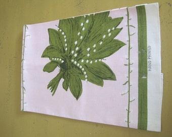 Vintage Linen Hand Printed Kitchen Towel